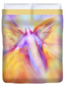 Archangel Uriel In Flight Duvet Cover