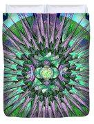 Archangels Gather Mandala Duvet Cover