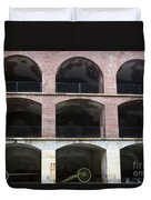 Arched Brick Portals Fort Point San Francisco Duvet Cover