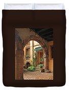 Arched Doorway In Kayserberg Duvet Cover