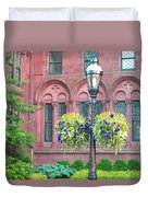 Arches And Potted Plants Duvet Cover