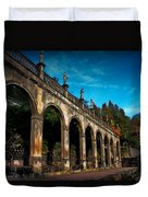 Arches And Statues Duvet Cover