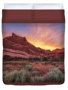 Arches Fire In The Sky Duvet Cover