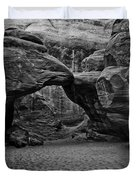 Arches National Park Black And White Duvet Cover