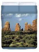 Arches National Park Sunrise Rock Formations  Duvet Cover