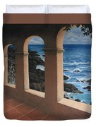 Arches Over The Ocean Duvet Cover