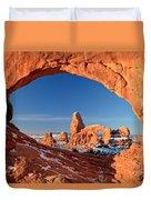 Arches Sandstone Frame Duvet Cover