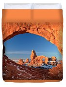 Arches Window Frame Duvet Cover