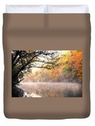 Arching Tree On The Current River Duvet Cover