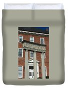 Architectural Columns With Equal Justice Duvet Cover