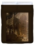 Architectural Fantasy With Figures Duvet Cover by Stefano Orlandi