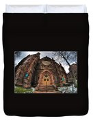 Architecture And Places In The Q.c. Series 01 Trinity Episcopal Church Duvet Cover