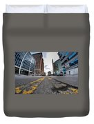 Architecture And Places In The Q.c. Series Delaware To Heart Of Queen City Duvet Cover