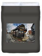 Architecture And Places In The Q.c. Series Laughlin's Duvet Cover