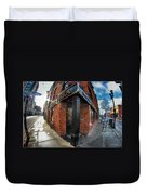 Architecture And Places In The Q.c. Series Prima Pizza 01 Duvet Cover