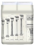 Architecture I Orders Of Architecture Engraved By Charles Lawrie Duvet Cover