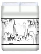 Architecture Of New York City Duvet Cover by Dan Sproul