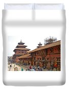 Architecture Of Patan Durbar Square In Lalitpur-nepal Duvet Cover