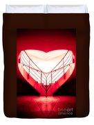 architecture's valentine - redI Duvet Cover