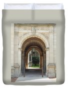 Archway To Courtyard Duvet Cover