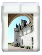 Archway View Chateau Amboise Duvet Cover