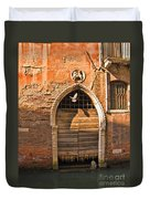 Archway With Bird In Venice Duvet Cover