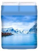 Arctic Dawn Lofoten Islands Duvet Cover