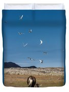Arctic Terns With Mare And Foal Duvet Cover