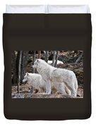 Arctic Wolf Pair Duvet Cover
