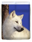 Arctic Wolf Portrait Wildlife Rescue Duvet Cover