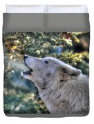 Arctic Wolf Song Duvet Cover