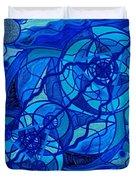 Arcturian Calming Grid Duvet Cover