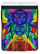 Arcturian Conjunction Grid Duvet Cover