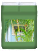 Areca Palms At The Window Duvet Cover
