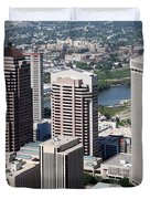 Arena District Columbus Ohio Duvet Cover