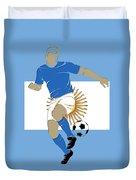 Argentina Soccer Player2 Duvet Cover