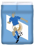 Argentina Soccer Player3 Duvet Cover