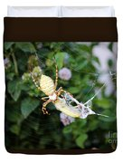 Argiope Spider Top Side Horizontal Duvet Cover