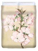 Ariake - Daybreak - Vintage Japanese Watercolor Duvet Cover
