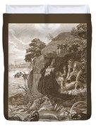 Aristeus Compels Proteus To Reveal Duvet Cover