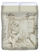 Aristotle And Phyllis Duvet Cover