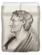 Aristotle From Crabbes Historical Dictionary Duvet Cover