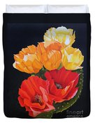 Arizona Blossoms - Prickly Pear Duvet Cover