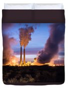 Arizona Power Plant Duvet Cover