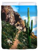 Arizona Saguaro Tonto National Monument Duvet Cover