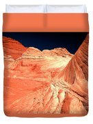 Arizona Sandstone Waves And Lines Duvet Cover