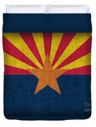 Arizona State Flag Duvet Cover by Pixel Chimp