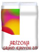 Arizona State Map Collection 2 Duvet Cover