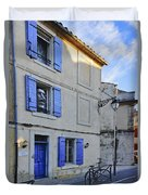Arles With Bicycle And Moai Dsc01802   Duvet Cover