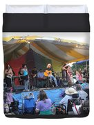 Arlo Guthrie And Family Duvet Cover
